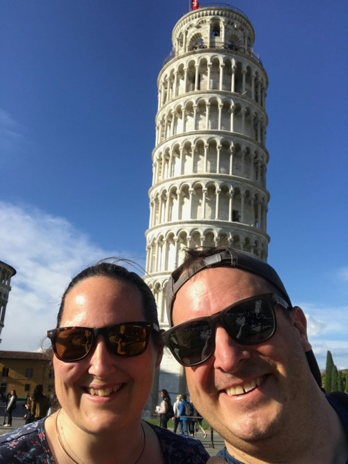 Pisa Tower Selfie - Italian Road Trip
