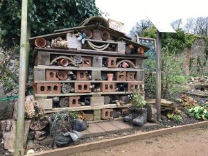 A bug hotel in the walled gardens at Hughenden.
